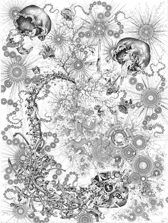 Le rêve de Dali – 70x93cm - 2011 Dessin à l'encre de Chine